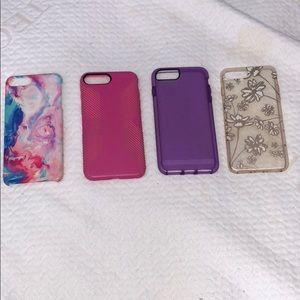 Accessories - iPhone 7 Plus case bundle! (4 cases)
